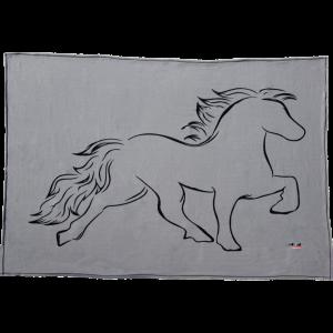 Karlslund Fleece Sofadecke mit Pferd
