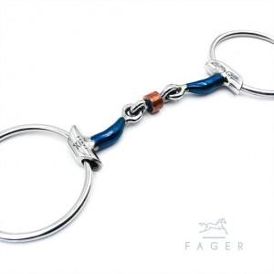 Fagers Kupferrollen-Gebiss mit Zungenfreiheit und Wings - JULIA dg 10,5cm
