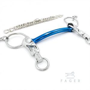 Fagers isländische Titan-Kandare als Stange mit kurzen Schenkeln - SABINA 10,5cm