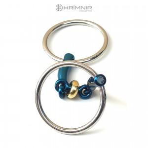 Hrímnir Titan Gebiss Fjola, doppelt gebrochen, lose Ringe, 10 cm, 12 mm