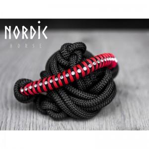 Nordic Horse Knotenhalfter mit Steinchen rot VB (Vollblut)