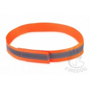 Firedog Warnhalsband mit Klettverschluss reflektierend neonorange